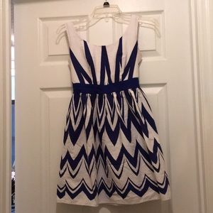 Beautiful blue and white dress